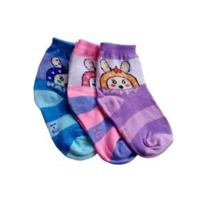 Baby Boy & Baby Girl Multi Colored Socks 1 to 3 Years,(Pack of 3)